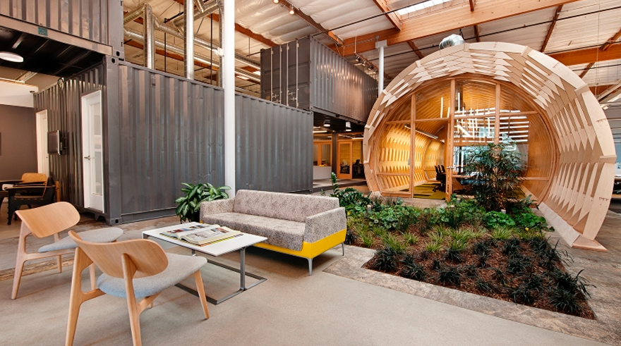 ecycled materials and spaces by Cunningham Group Architecture sustainable office interior design trends for 2019
